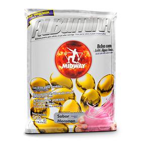 Albumina - 500 Gramas - Midway Morango