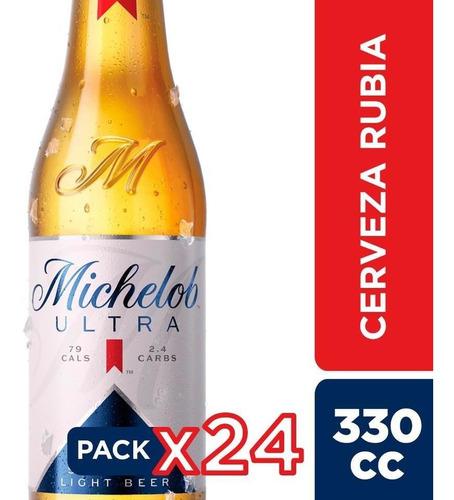 Cerveza Michelob Ultra Botellin 24 Unidades 355cc