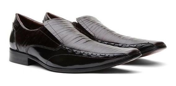 Sapato Social Masculino Couro Verniz 460420 - Frete Grátis