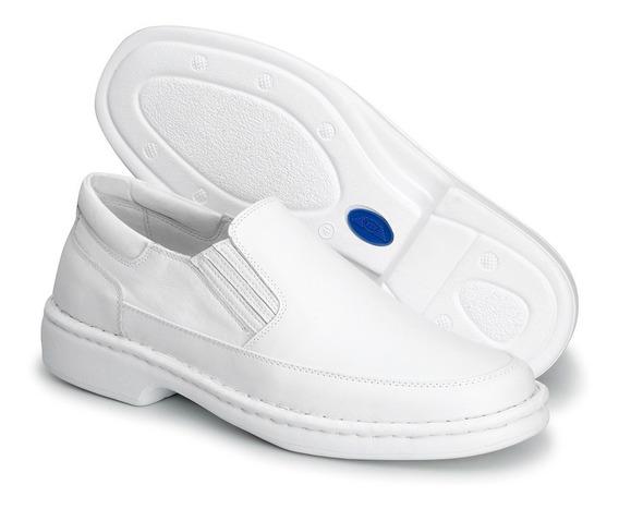 Sapato Ortopédico Masculino Terapêutico Confort Branco 1709