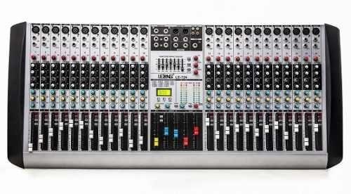 Mesa C/24 Canais Controle De Som Musicas P10 26 Efeitos Novo