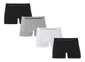 Kit Com 4 Cuecas Boxer Sem Costura - Duomo