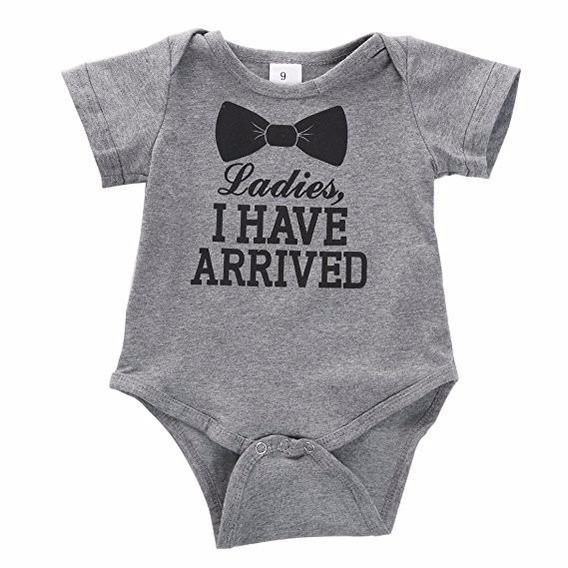 Ropa P/ Bebe Newborn Baby Boys Girls Bowtie Short Sleeve