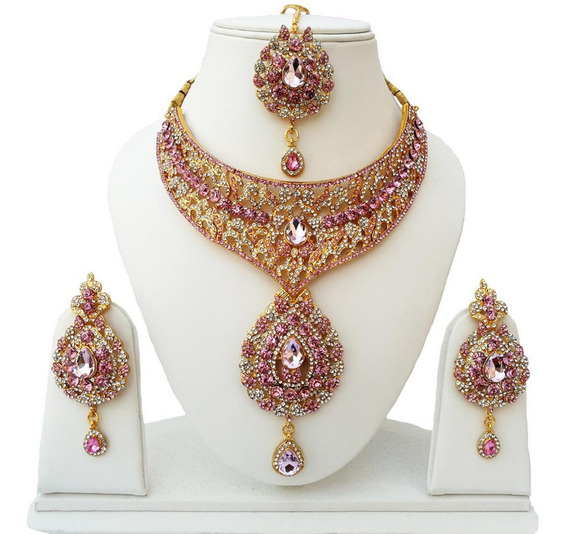 Joia Indiana Bollywood Designer Kundan Tikka Kit 3pcs #53
