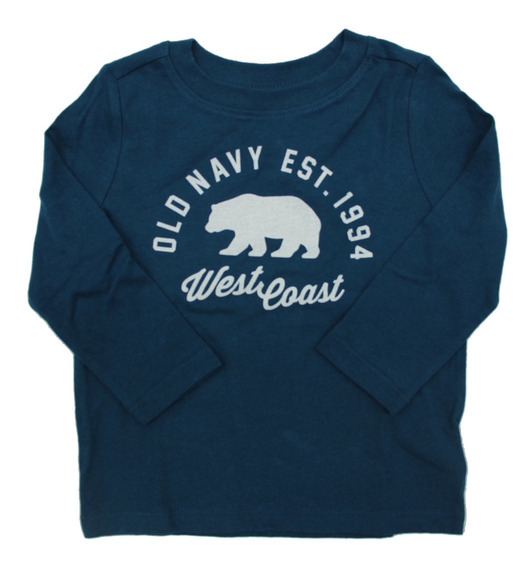 Playera Niño Bebé Larga Corta Estampado Al Frente Old Navy