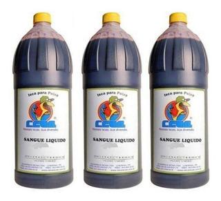 Sangue Para Pesca Líquido Bovino Ceva - Kit Com 3 Litros
