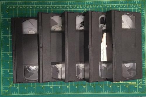 Lote De 5 Cassette Vhs Para Artesanías O Decorar (sin Cajas)