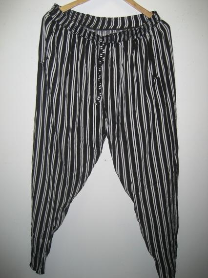 Pantalones De Fibrana Tiro Alto Talles Grandes Xl Al 3xl
