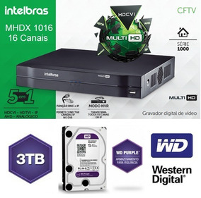 Gravador De Imagens 16ch Mhdx 1016 Com Hd Wd 3tb Purple