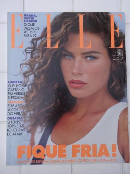 Revista Elle 45 Paradis Caetano Paula Lavigne Grávida 1992