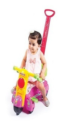 Moto Andador Infantil Baby Feminino Bs Toys