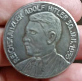 Moeda Medalhão Alemanha 33 3° Reich