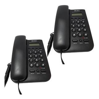 Paquete De 2 Teléfonos Alambricos Con Bloqueo De Llamadas