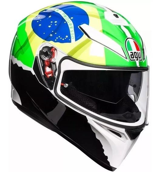 Capacete Agv K3 Sv Morbidelli Viseira Solar Brasil & Italia
