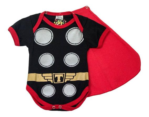 Body Fantasia Super Heróis Thor Para Bebês