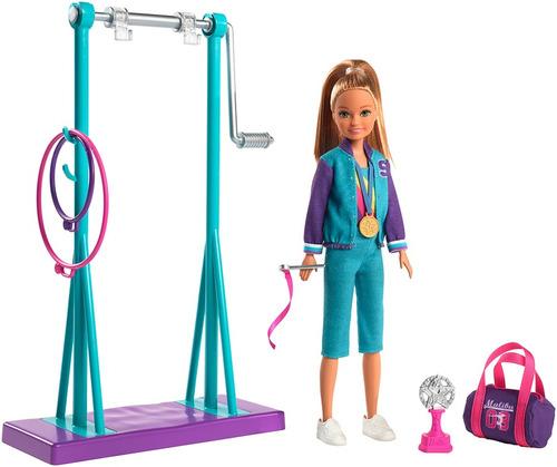 Imagen 1 de 6 de Barbie Set De Juego De Gimnasia