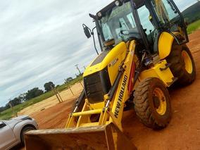 Retro Escavadeira New Holland B95 B - 2014 - Cabinada