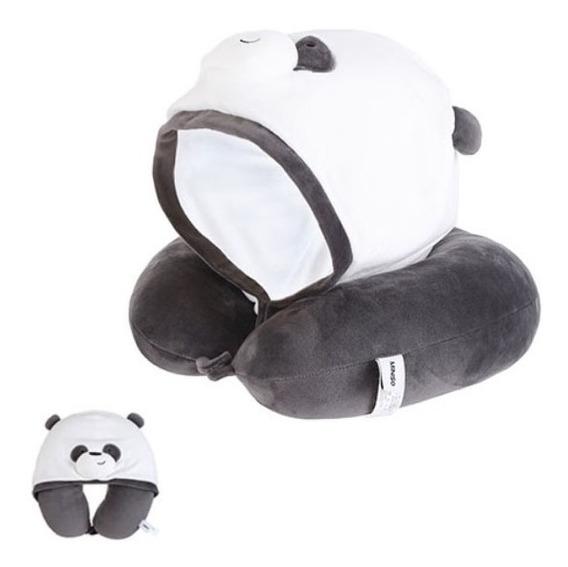 Almofada De Pescoço Com Capuz Ursos Sem Curso Miniso