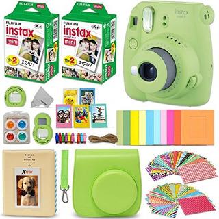 Fujifilm Instax Mini 9 Camara Instantanea Lime Green Fuji In