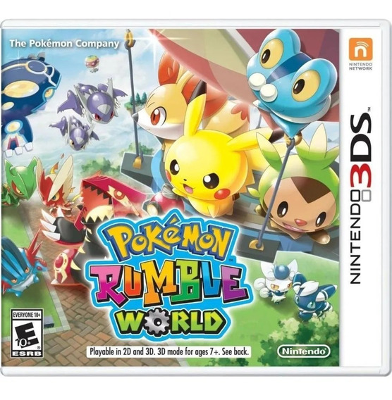 Pokemon Rumble World 3ds Mídia Física Novo Original Lacrado