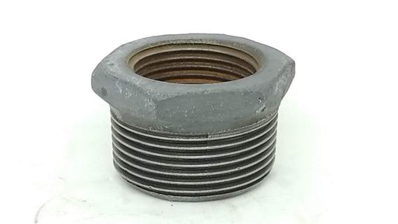Conexão Ferro Galvanizado Bucha Redução 1.1/2 X 1 Pol Npt
