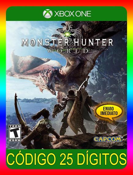 Monster Hunter World Xbox One - 25 Dígitos (envio Já)