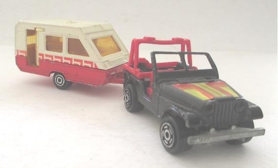 C4432 Miniatura Jeep (n.268) E Trailer (n.325) Majorette, F