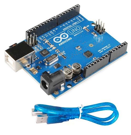Arduino Uno R3 Versão Smd C/ Cabo Usb