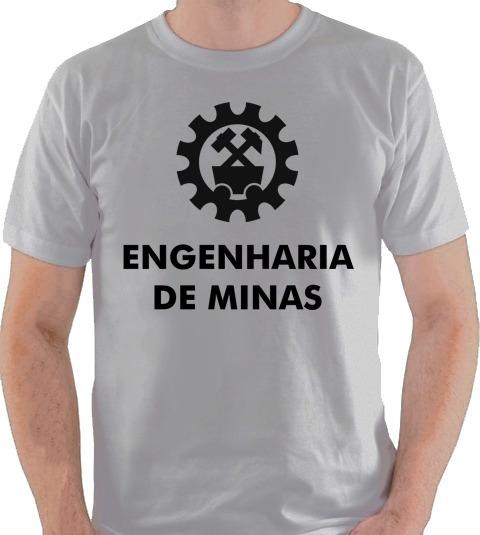 Camiseta Curso Graduação Engenharia De Minas Camisa Blusa 1