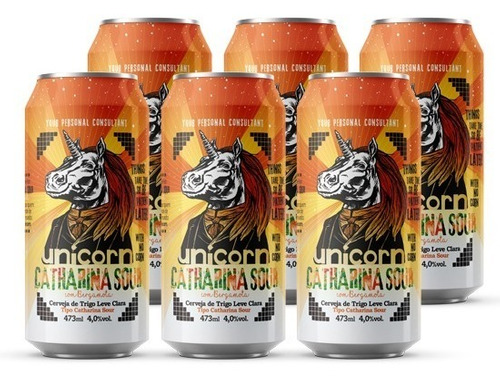 Cerveja Unicorn Catharina Sour Bergamota Caixa C/ 6 Latas 47