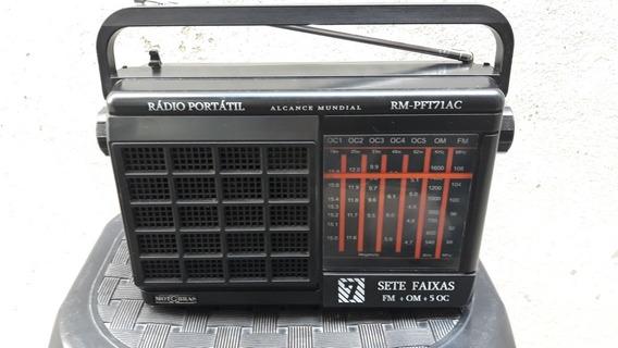Rádio Portátil Usado Motobras Modelo Rm_pf 171 Ac