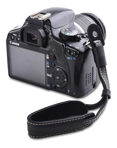 Alça De Mão Couro P/ Câmeras Dslr Canon Nikon Sony