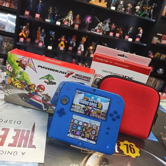 Nintendo 2ds Azul Desbloqueado 55 Jogos Mais Emulador Snes