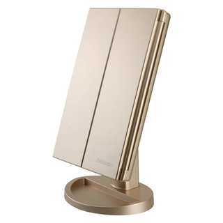 Espejo De Baño Cosmético Color Oro Luz 180 Grados De Deweisn
