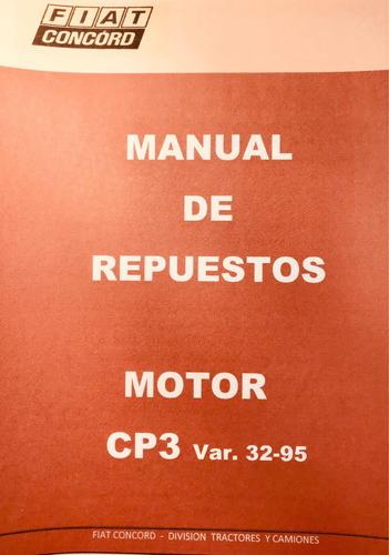Manual De Repuestos Motor Fiat Cp3/var 32