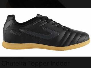 Tênis Chuteira Adulto Masculino Futsal Indoor Topper Boleiro