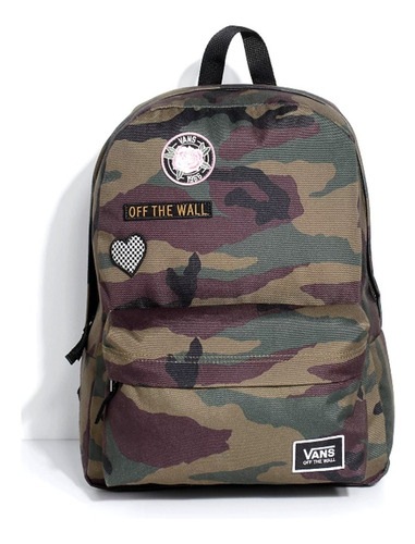 Morral Vans Realm Camo Patch Backpack 100% Original
