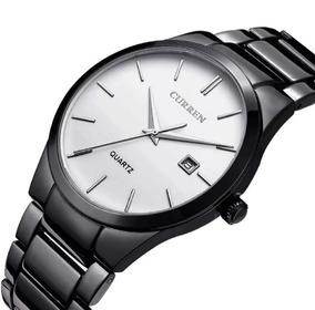 Relógio Masculino Preto Casual Esportivo Social Luxo Curren
