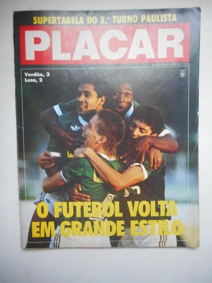 Revista Placar Nº 935 - Maio/1988 - Pôster Flamengo