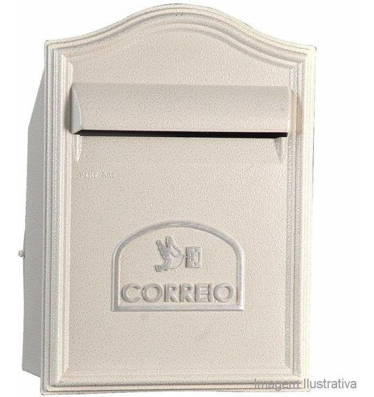 Caixa De Correio Branca Muro 39x28cm Alumínio Alfa