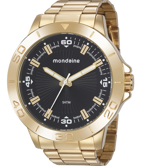 Relógio Masculino Mondaine Dourado 76757gpmvde2