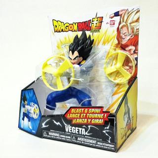 Muñeco Dragon Ball Figura Goku Vegeta Lanza Ataque Bandai