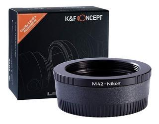 Anillo Adaptador K&f Concept P/ Lentes M42 A Nikon