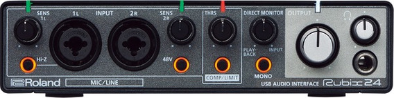 Interface Áudio Roland Rubix24 Mac/pc/iPad Midi 2 In 4 Out