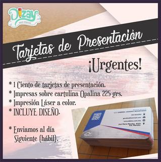 1 Ciento De Tarjetas De Presentación ¡urgente!