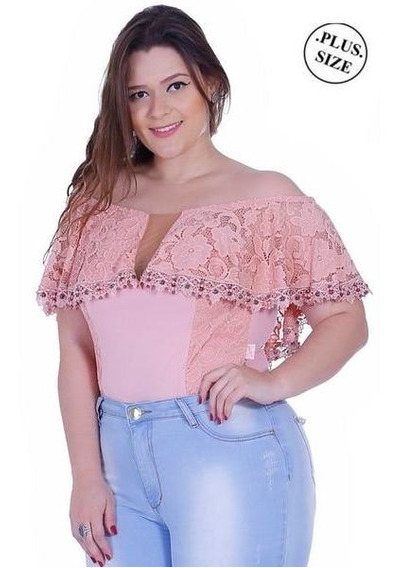 Body Plus Size Zigma Ciganinha Rosa -
