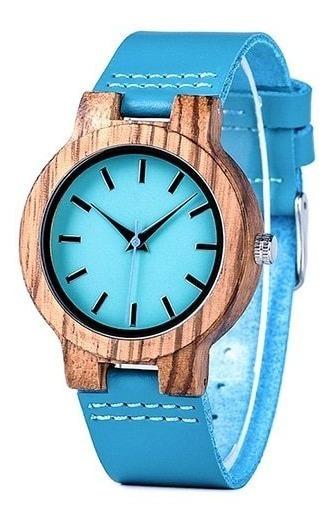 Relógio Unissex Bobo Bobo Bird Madeira Ecológica Azul