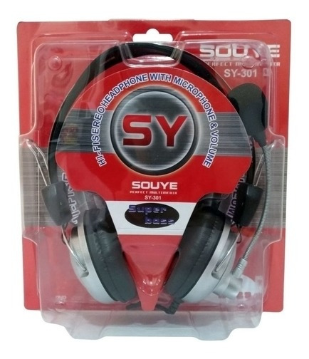 Headphone Sy-301 Fone E Microfone Souye