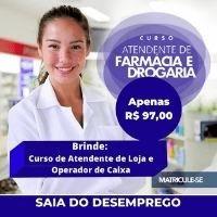Imagem 1 de 1 de Atendente De Farmácia E Drogaria - Ead