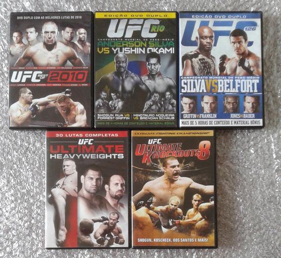 Kit C/5 Filmes (8 Dvds) De Lutas Do Ufc - Originais